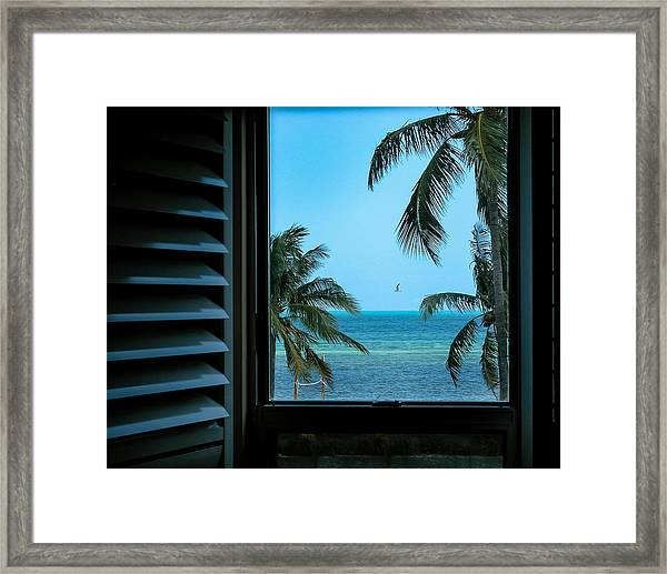 Window To Smathers Beach Framed Print