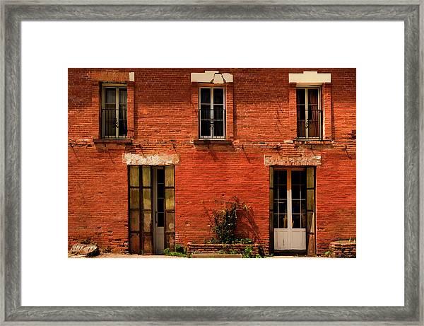 Windows And Doors Framed Print