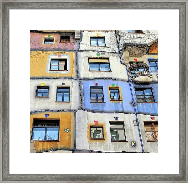 Windows Of Hundertwasser Framed Print