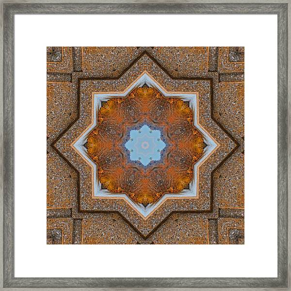 Framed Print featuring the photograph Windows To Autumn Mandala 5 by Beth Sawickie