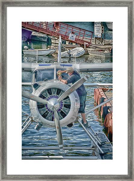 Windshield Wiper Framed Print