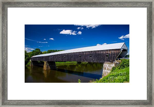 Windsor - Cornish Covered Bridge. Framed Print
