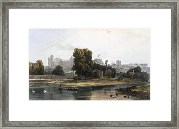 Windsor Castle From The River Thames Framed Print