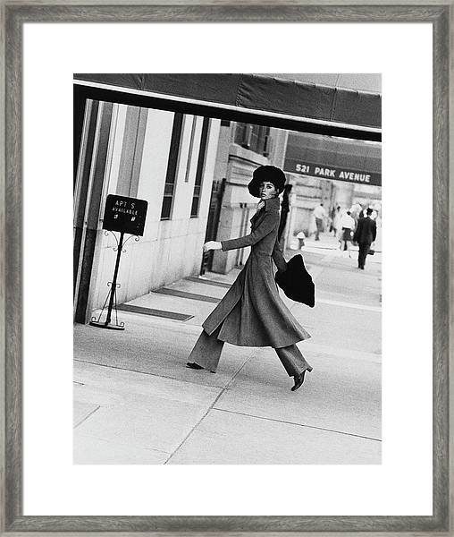 Windsor Elliot Walking Toward An Apartment Framed Print by Jack Robinson