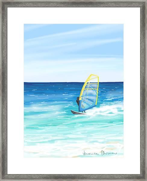 Windsurf Framed Print