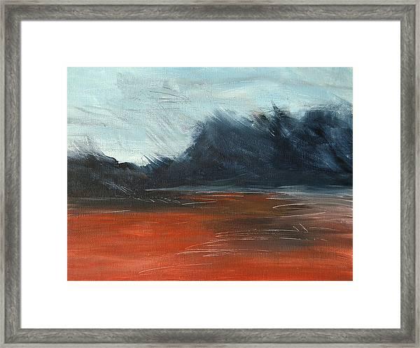 Windy Beach Framed Print