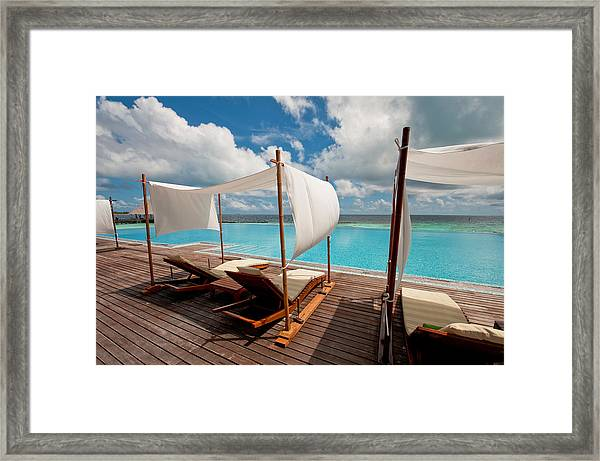 Windy Day At Maldives Framed Print