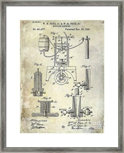 1890 Wine Bottling Machine Framed Print