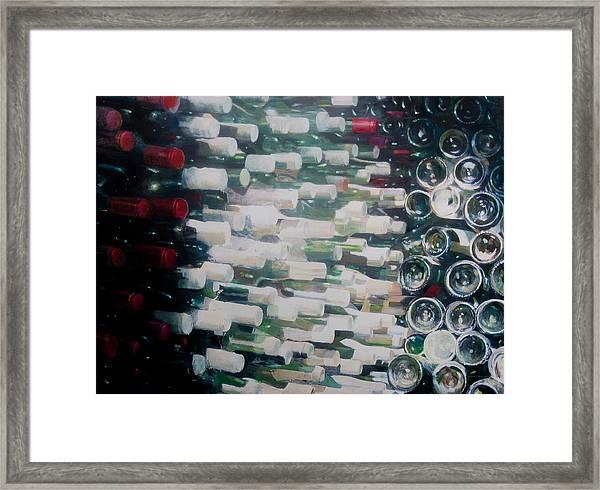Wine Cellar, 2012 Acrylic On Canvas Framed Print