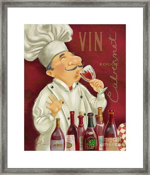 Wine Chef I Framed Print