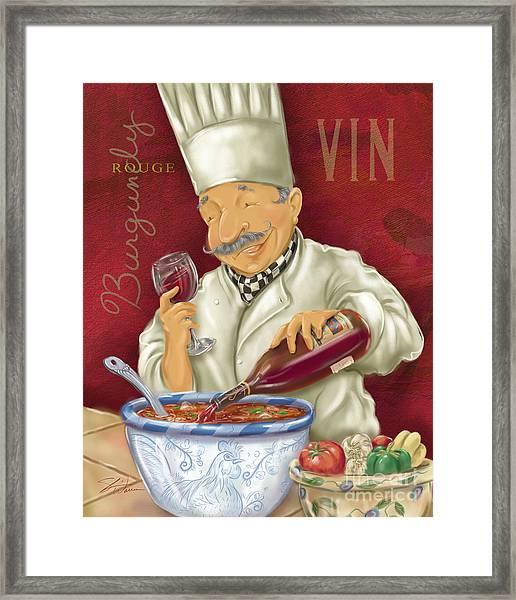 Wine Chef II Framed Print