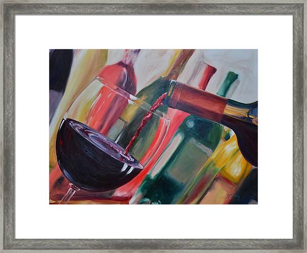 Wine Pour IIi Framed Print