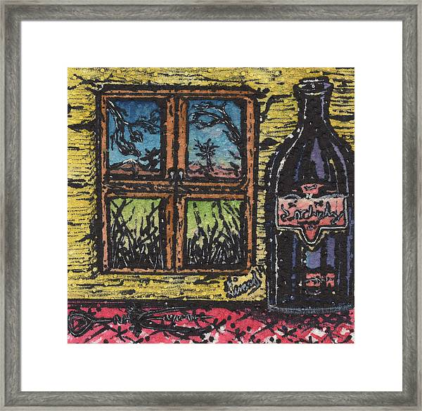Wine With A View Framed Print
