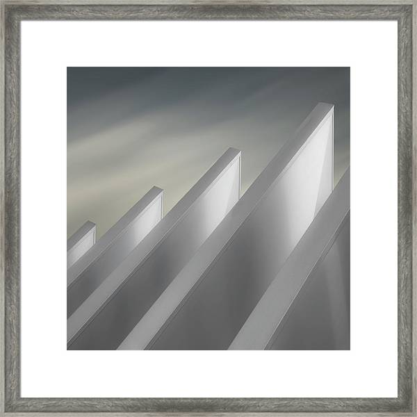 Winged Walls Framed Print