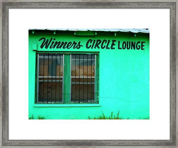 Winner's Circle Lounge Framed Print