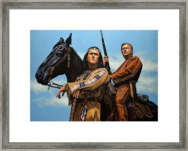 Winnetou And Old Shatterhand Framed Print