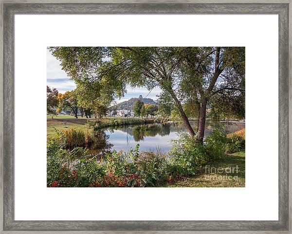 Framed Print featuring the photograph Winona Gift - Fall Wonderland by Kari Yearous