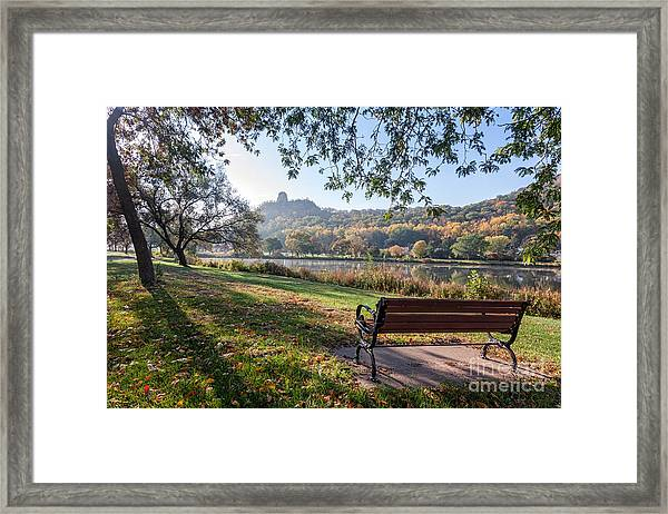 Framed Print featuring the photograph Winona Gift - Seat With A View by Kari Yearous
