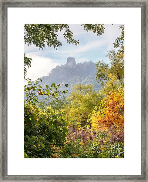 Framed Print featuring the photograph Winona Mn Souvenir Rainbow Sugarloaf by Kari Yearous