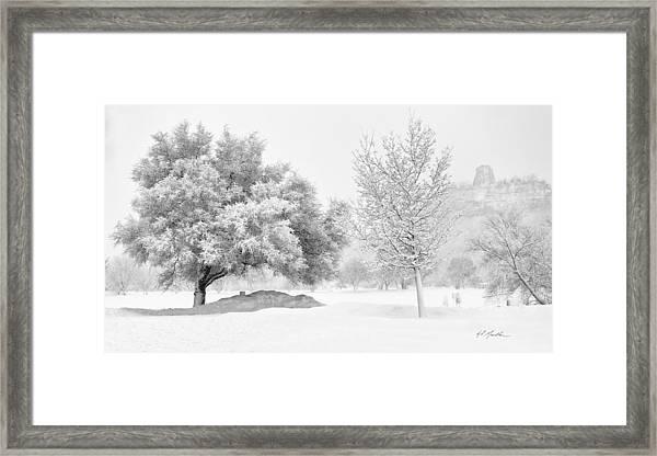 Winona Snowstorm Framed Print
