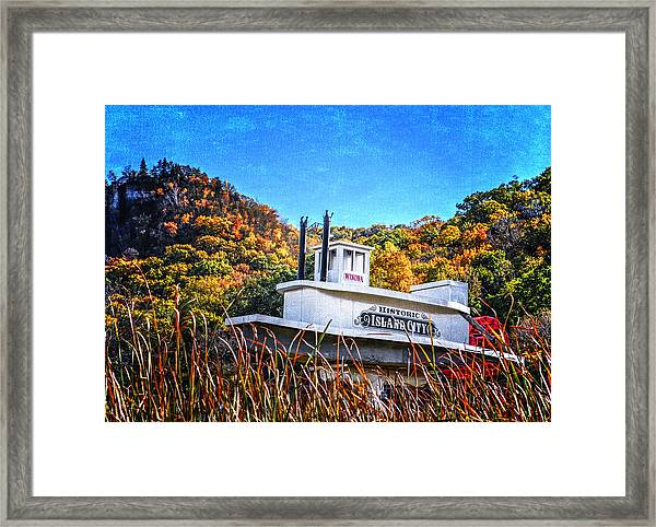Winona Steamboat Sign Framed Print