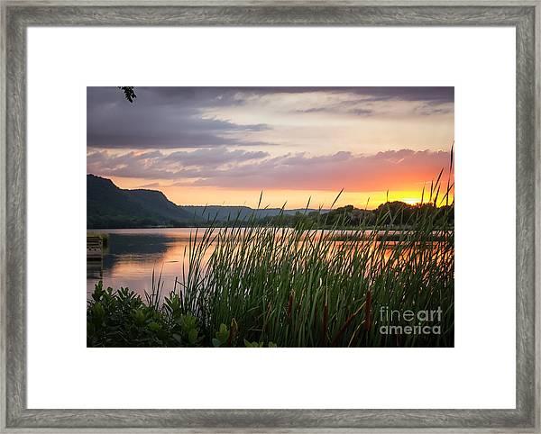 Winona Sunset Framed Print