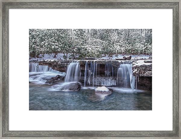 Winter A Camp Creek Framed Print