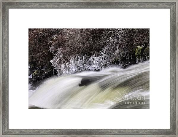 Winter At Dillon Falls Framed Print