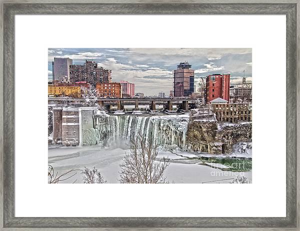Winter At High Falls Framed Print