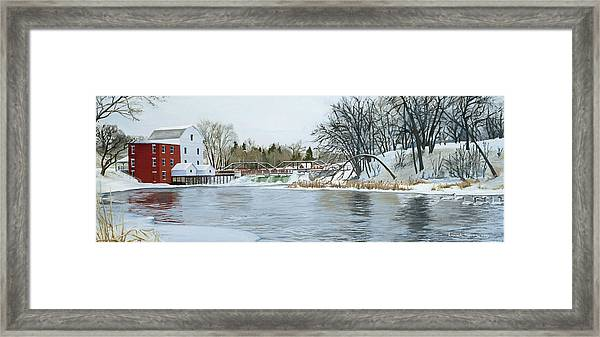 Winter At Phelps Mill Framed Print