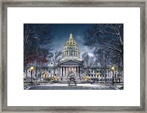 Winter At The Capitol Framed Print