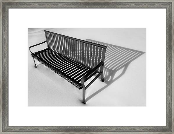 Winter Bench Framed Print