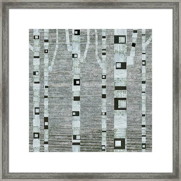 Winter Birches Framed Print