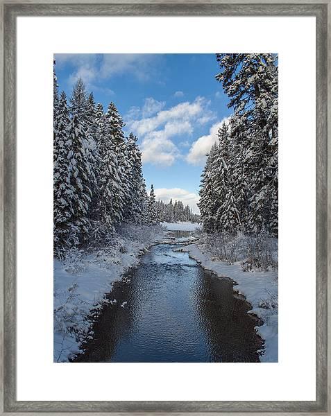Winter Creek Framed Print