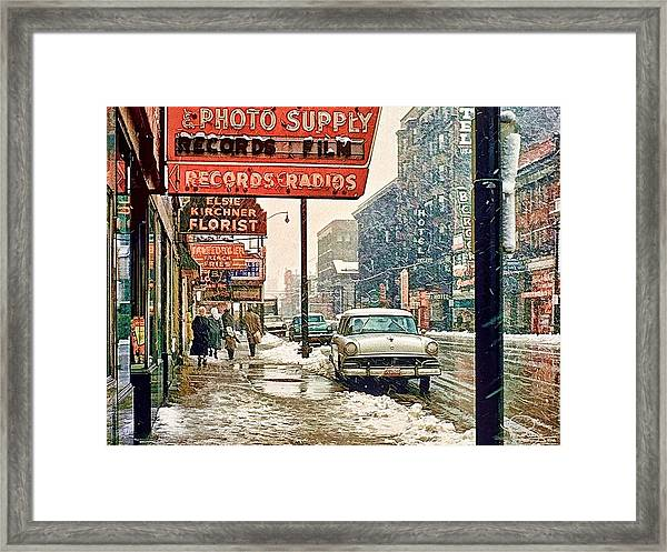 Winter Day On Euclid Avenue Framed Print