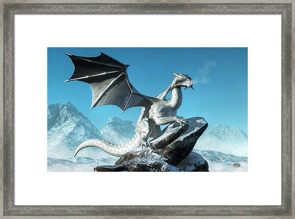 Winter Dragon Framed Print