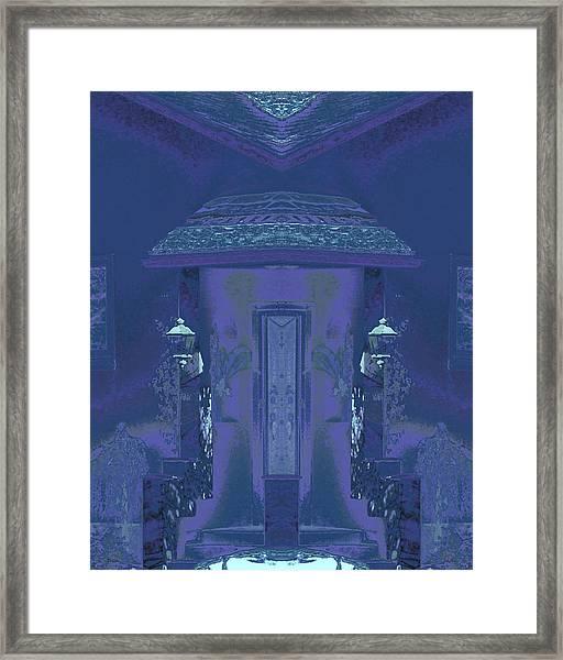 Winter Dusk Homecoming Framed Print