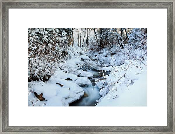 Winter Flow Framed Print by Darryl Wilkinson