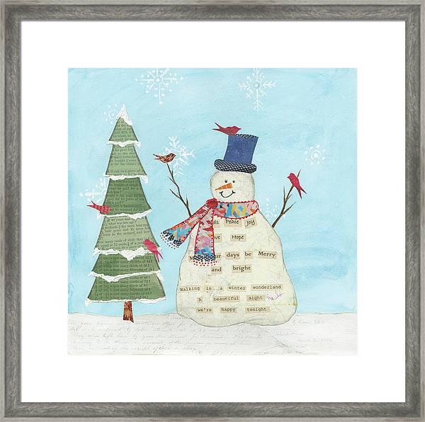 Winter Fun II Framed Print