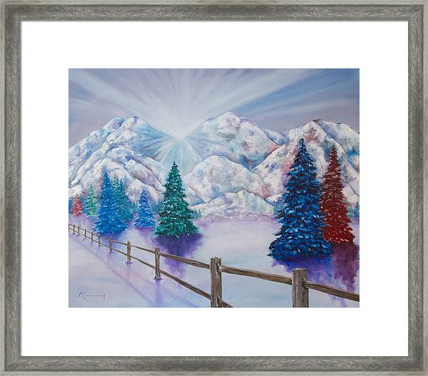 Winter Glow Framed Print