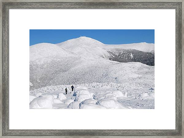 Winter Hike In The Southern Presidential Range Framed Print