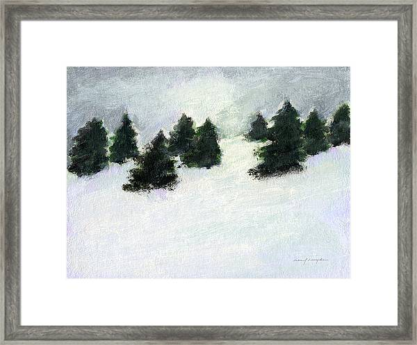 Winter Hill Framed Print
