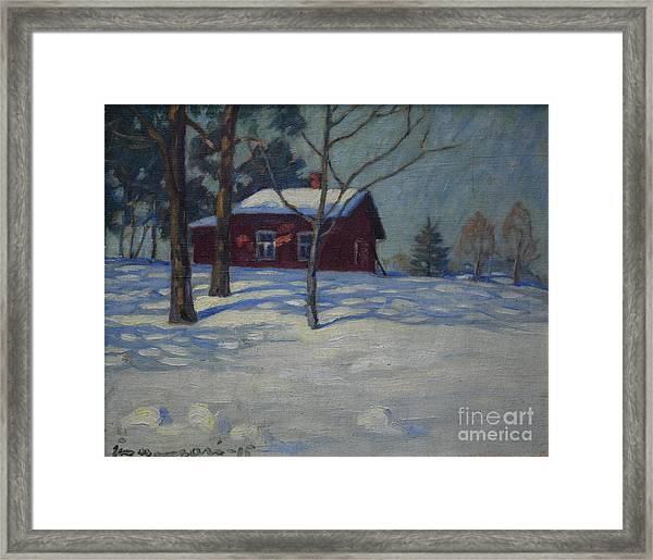 Winter House Framed Print