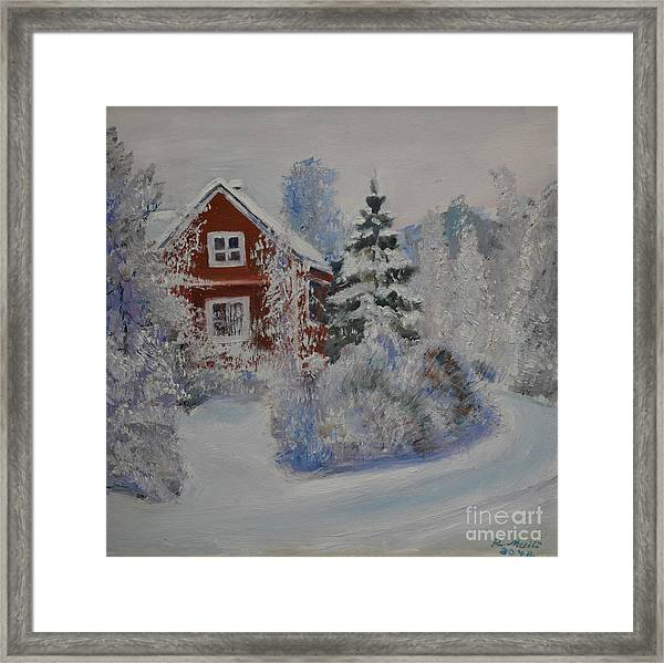 Winter In Finland Framed Print