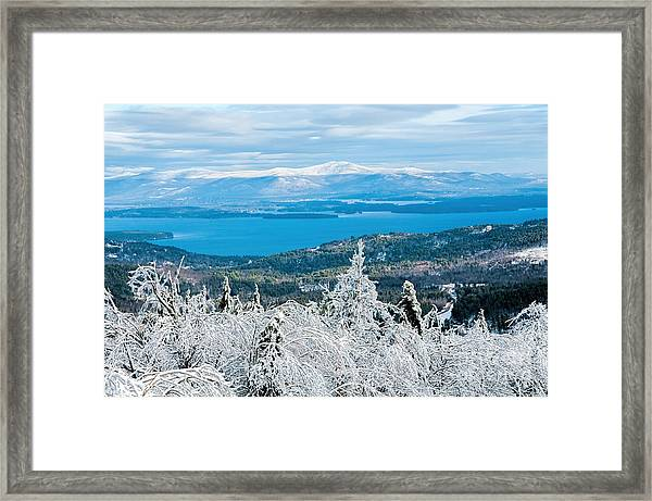 Winter In Nh Framed Print