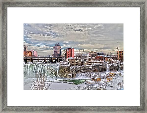 Winter In Rochester Framed Print