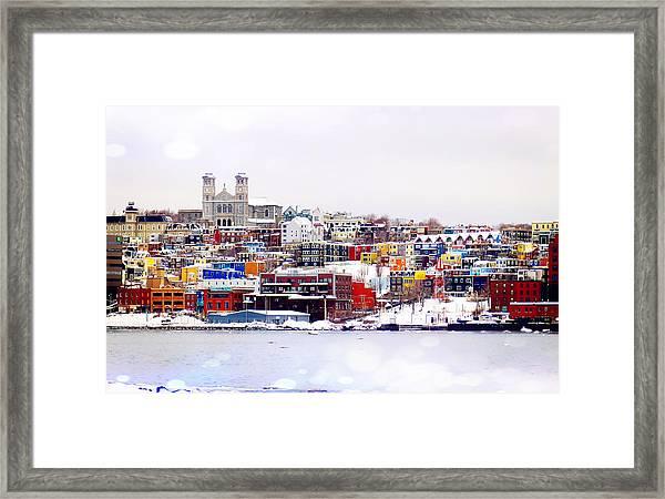 Winter In St. John's Framed Print