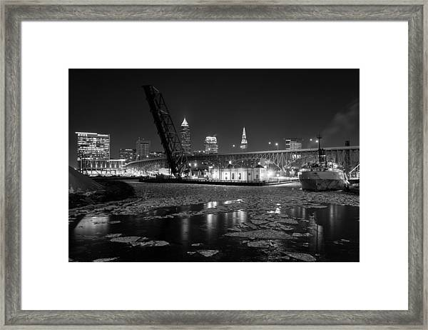 Winter In The Cleveland Fats Framed Print