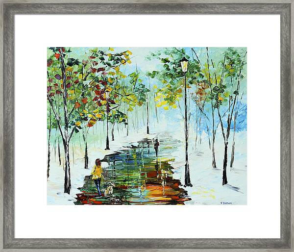 Winter In The Park Framed Print