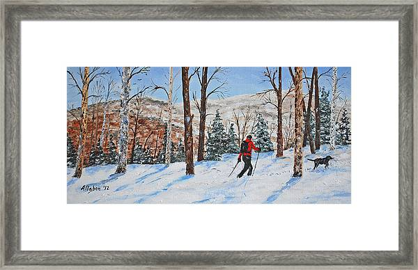 Winter In Vermont Woods Framed Print
